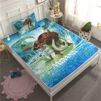 3D Disney Moana Printed Bedding Set Twin Size Bedspread Coverlets for Kids Bedroom Decoration pillow case Children Home Children