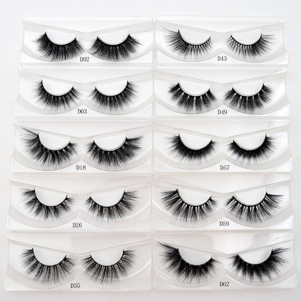 Free DHL 100pairs Visofree Faux Mink Lashes 3D Silk Eyelashes Handmade Full Strip Lashes Dramatic False Eyelashes Makeup 20style-in False Eyelashes from Beauty & Health    2