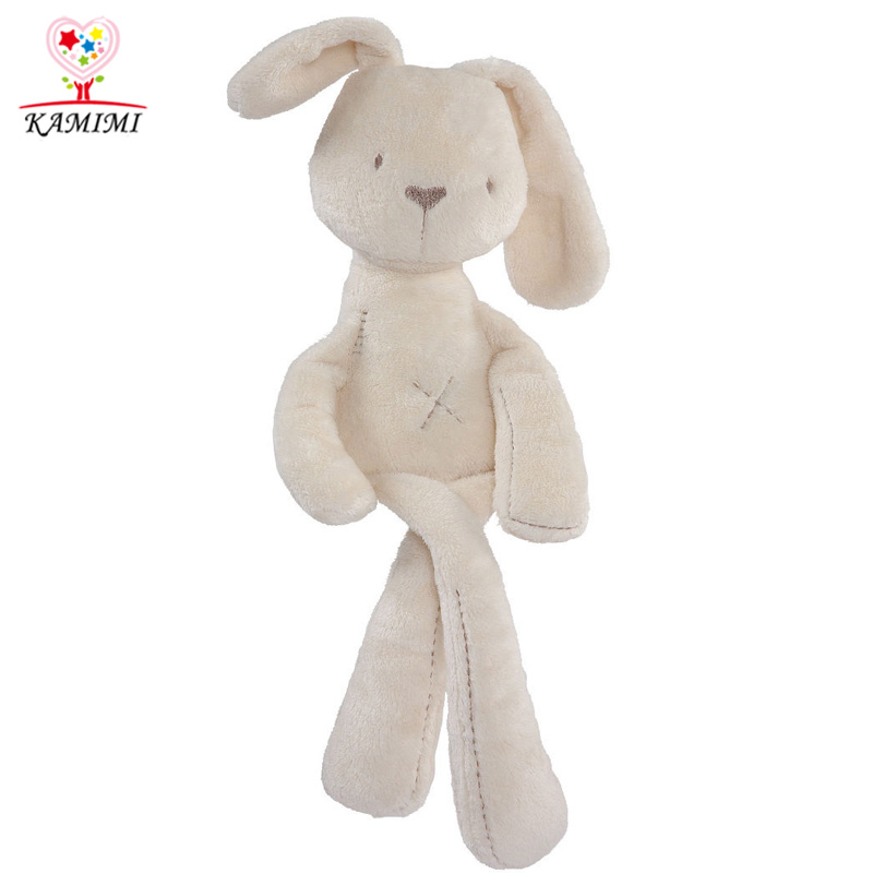 KAMIMI baby sleep toy cartoon rabbit toy baby bed sets lovely cotton toy play on bed children toy i039
