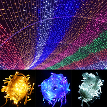 Waterproof Outdoor Home 10M 20M 30M 50M 100M LED Fairy String Lights Christmas Party Wedding Holiday Decoration Garland light led decorative street garland string fairy light 10 20m 30m decoration for christmas tree garden wedding new year holiday lights