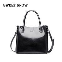 SWEET SNOW New Genuine Leather Messenger Bag Fashion Joker Handbag Popular Retro Shoulder Bag Luxury Designer Hand Bag