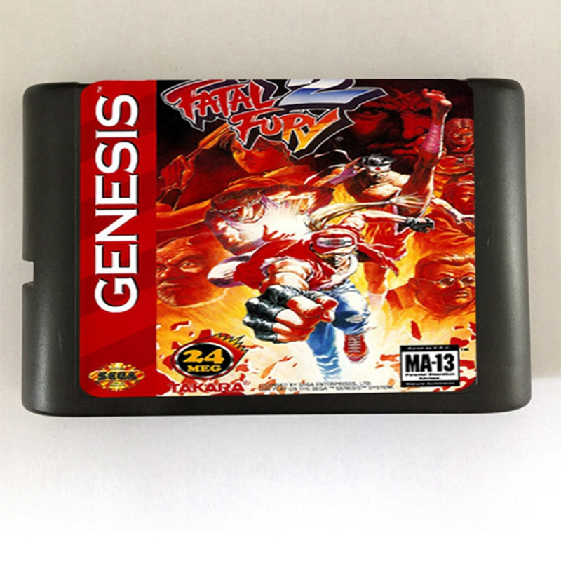 Fatal Fury 2 Game Cartridge Newest 16 bit Game Card For Sega Mega Drive / Genesis System