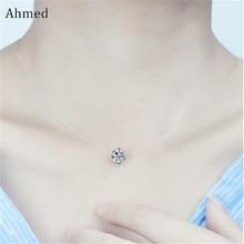 Ahmed, простое прозрачное тонкое ожерелье, стразы, подвеска, татуировка, колье для женщин, очаровательный модный воротник, бижутерия