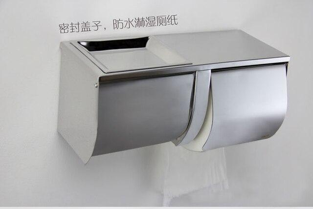 Ispirare in acciaio inox cromato portarotolo di carta tissue