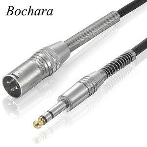 Cable de Audio macho Bochara de 6,5mm macho a XLR + trenzado blindado para micrófono amplificador mezclador 1,8 m 3m 5m 10m