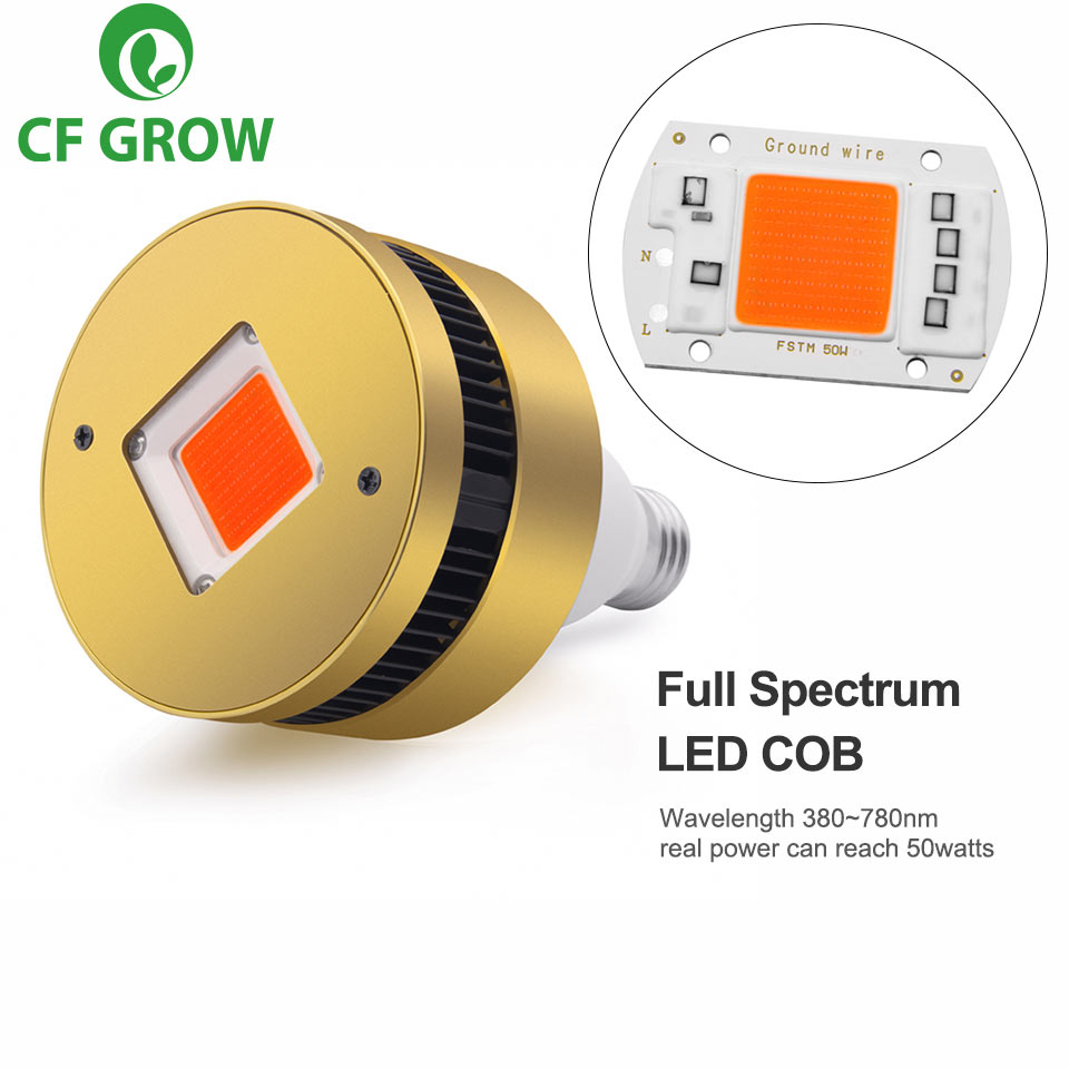 120W 150W COB LED Grow Light E26 E27 Socket Base Full Spectrum Grow Lamp For Indoor Plants Small Growing Tent