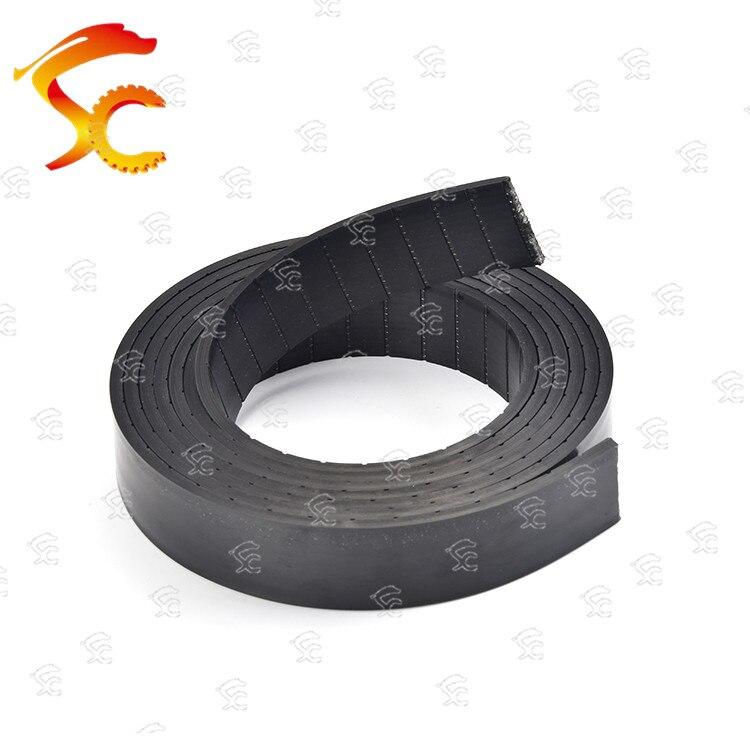 10Meters lot High quality PU flat belt black P3 30mm width 30mm thickness 3mm color black