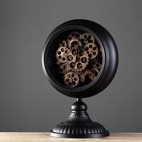 American Nordic Retro Home Furnishing Iron Gear Clock Model Housing Decoration Decoration Cafe Bar Clock Creative Ornaments