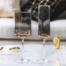 Europe Electroplated gold/transparent wine glass goblet Red Wine Cup champagne glasses Cups  party home Drinkware cup