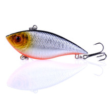 Купить с кэшбэком 1PCS Fishing Sinking VIB Lure 10g 7cm Vibration Vibe Rattle Hooks Baits Crankbaits Wobbler Fishing Jig Wing Tackle