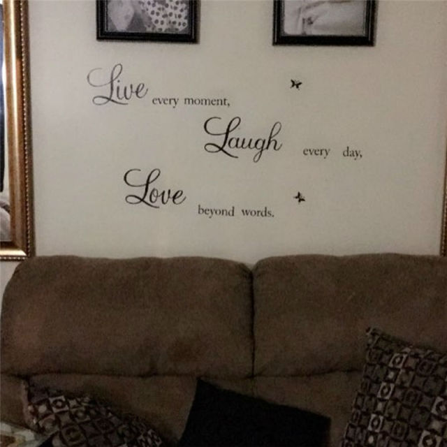 Live Laugh Love Quote Sticker