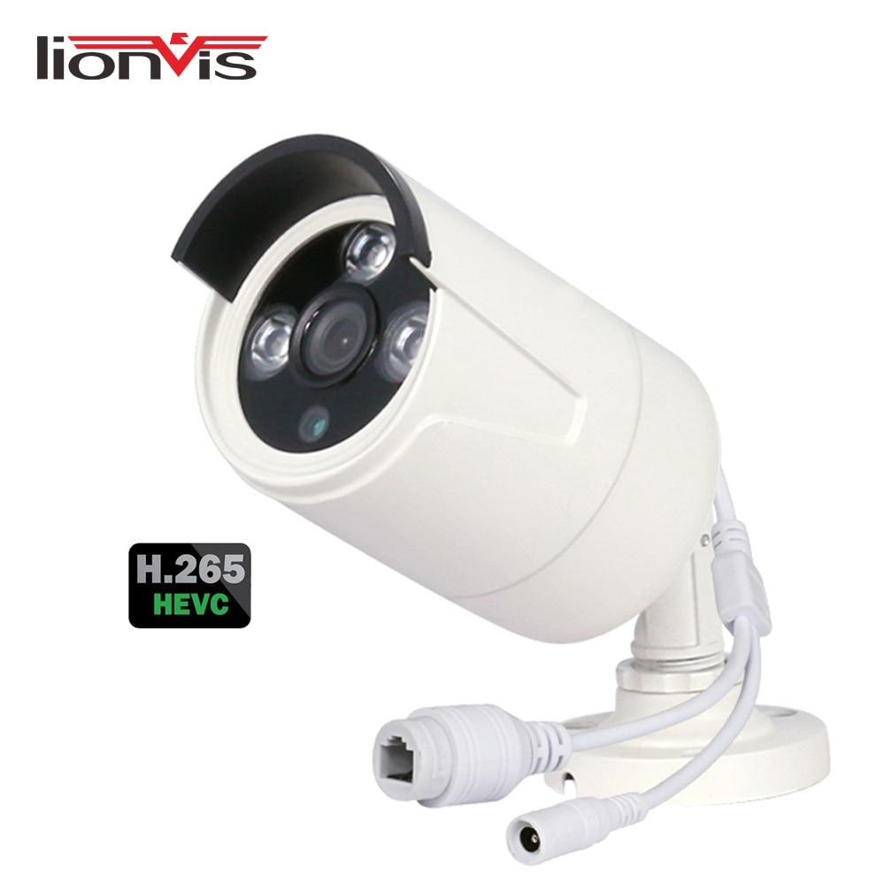H.265 ONVIF Network IP Camera 2MP 3MP 4MP Night Vision Indoor Outdoor Waterproof Metal Housing CCTV Camera Support 48V PoE