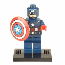 Single Sale XH 001 Super Heroes Captain America Civil War Minifigures Marve The Avengers Building Block Bricks Kids Toys