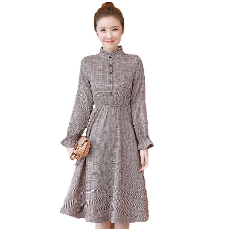 03ea922b66d 2018 Новый Осень Винтаж Для женщин платье длинный рукав в длинные платья  сетки 5251