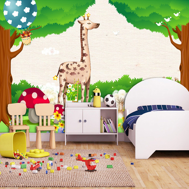 Kids Bedroom Background aliexpress : buy custom 3d photo wallpaper green forest