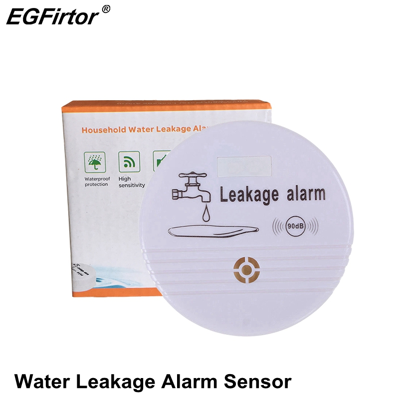 Wireless Water Alarm Independent Battery Water Alarm Sensor Detector 90dB Sounder Water Leakage Alarm Detector Home System DC9VWireless Water Alarm Independent Battery Water Alarm Sensor Detector 90dB Sounder Water Leakage Alarm Detector Home System DC9V