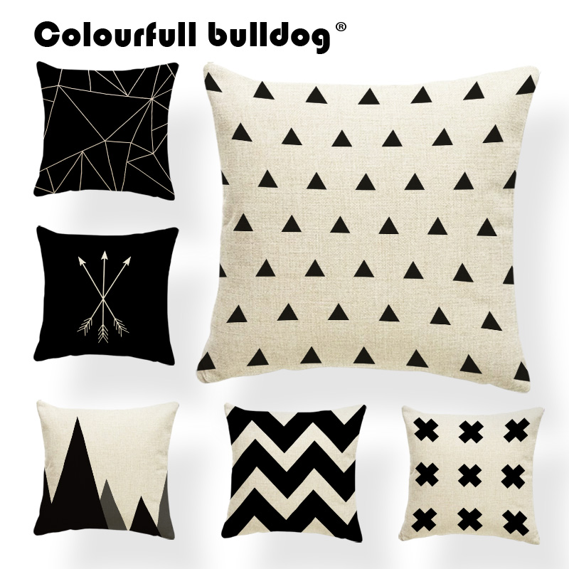 Geometry Cushion Covers Winter Chevron Zigzag Pillow Cushion Case Arrow Polka AztecThrow Pillow Abstract Bed Gift Photo 45X45cm