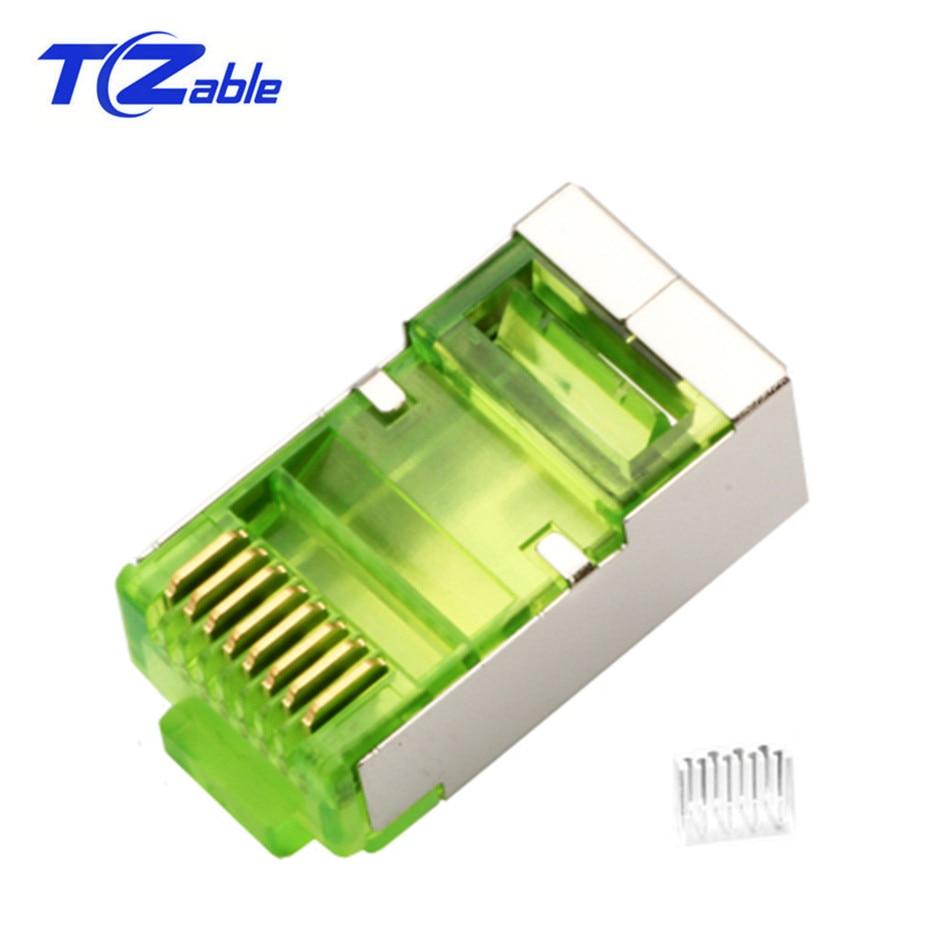 "Cat6 RJ45 Connector 8P8C 6U/"" Modular Ethernet Head Crimp Network RJ 45 Plug"