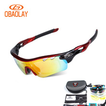 Hot Men Women UV400 Polarized Cycling Glasses Sport Outdoor Sun glasses Mountain Bike Bicycle Sunglasses Goggle Eyewear 5 Lens