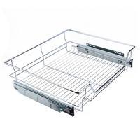 Under Shelf Storage Basket Kitchen Pantry Pull Out Sliding Basket Drawer Storage Cabinet 600mm Sliding Metal Basket