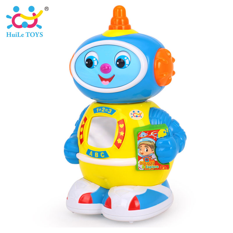 Baby Toys Space Robot Bump & Go Action Walking Robot with Music & Lights Electric Toys for Children Xmas Gifts kids toys space robot bump and go action music lights and tons fun early learning walking robot music light gift 12m baby toys