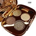 4 Colores Oro Ahumado Cosméticos Diamante Brillante Brillo Sombra de Ojos Maquillaje de Ojos Profesional Paleta de Sombra de ojos