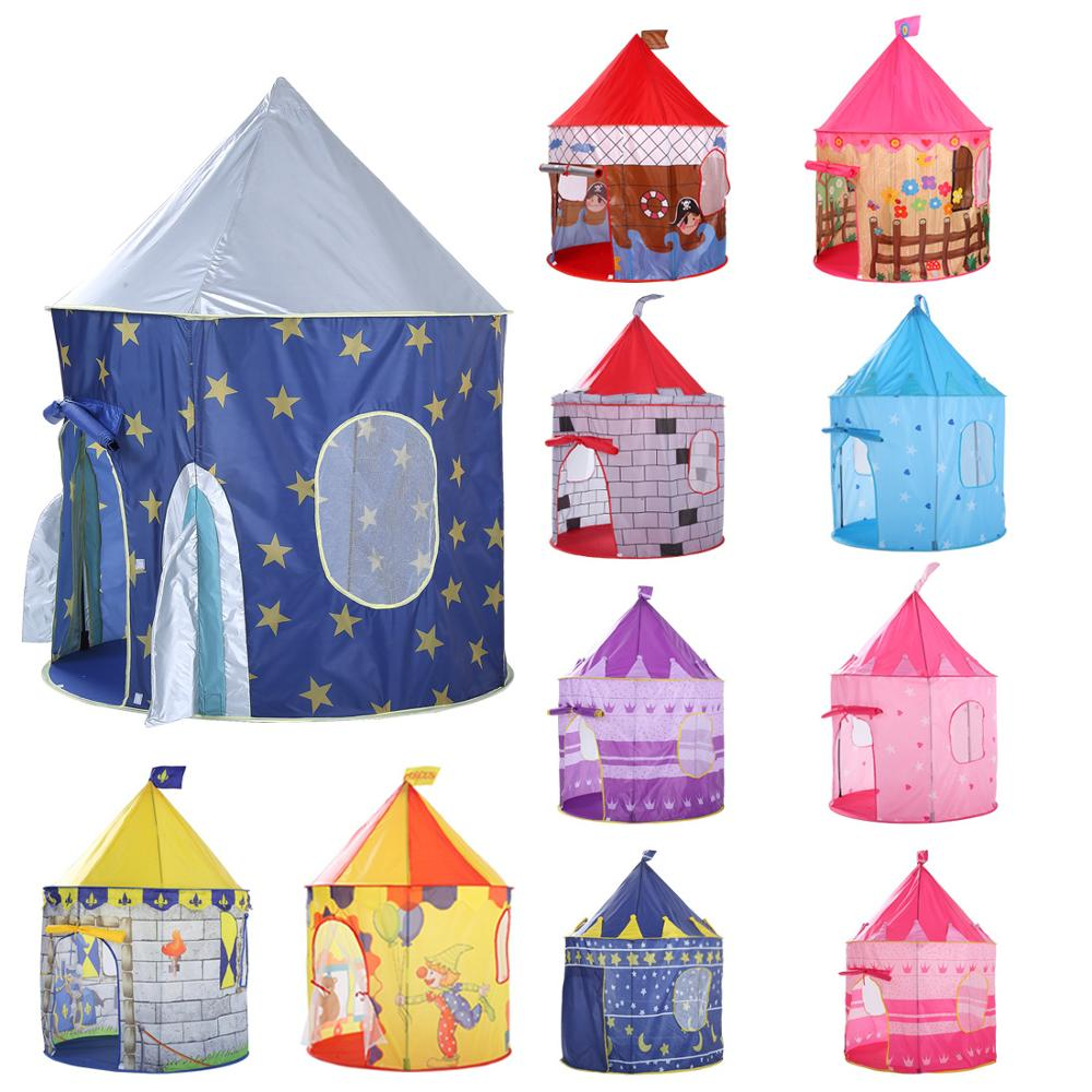 135CM Kids Play Tent Ball Pool Tent Boy Girl Princess Castle Portable Indoor Outdoor Baby Play Tents House Hut For Kids Toys
