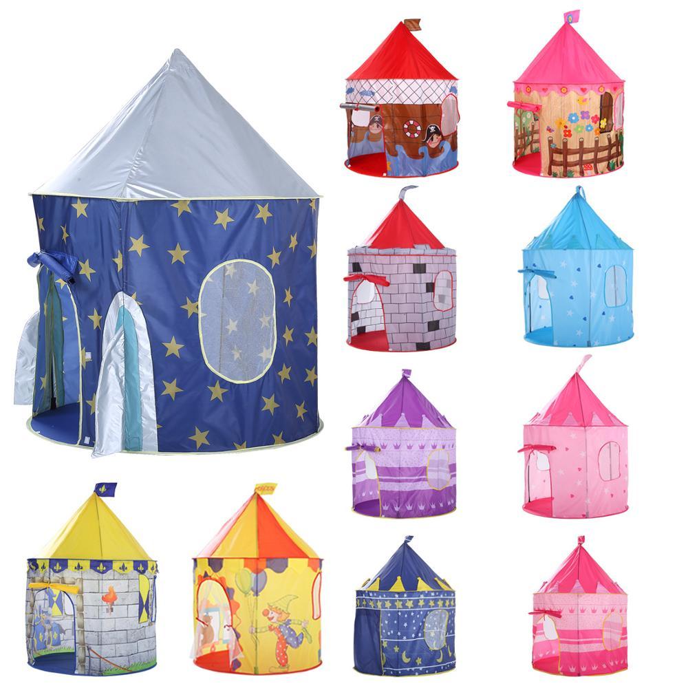 135CM Kinder Spielen Zelt Ball Pool Zelt Junge Mädchen Prinzessin Schloss Tragbare Indoor Outdoor Baby Spielen Zelte Haus Hütte für Kinder Spielzeug