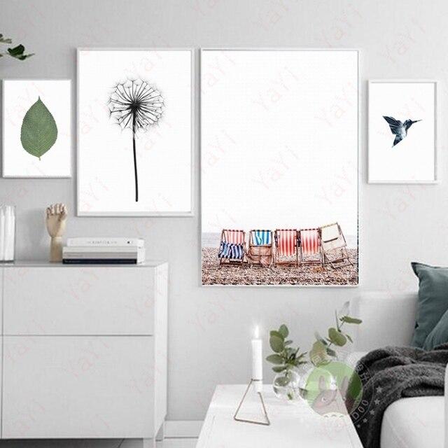 Nordic Decorazione Pittura Di Paesaggio Astratto Piuma Composito