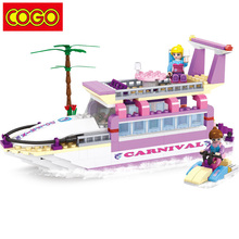 COGO Blocks Girl Series Luxury Submarine Blocks 318 pcs Building Block Playmobil font b Toys b