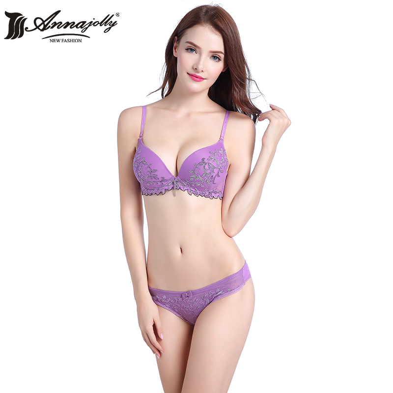 62096efbffd Annajolly Women Sexy Push Up Bra Sets Top Embroidery Lace Leaf Bras And Panties  Brief Green Underwear Lingerie Clothing D1103
