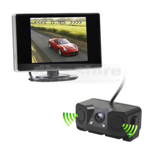 DIYKIT 3.5 inch TFT LCD Car Monitor + Waterproof Parking Radar Sensor Reversing Car Camera Parking Assistance System