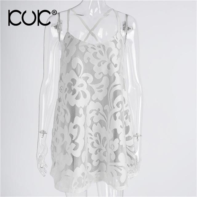 White Lace Dress Women Hippie Chic Summer Vestidos Beach Tunic Femme Backless Casual MIni Boho Dress A625