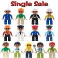 Las cifras de Ocupación Serie Clásica Original Compatible con Legoe Duplo Bloques de Construcción Grandes Partículas Bebé Ensamblar Ladrillos De Juguete de Regalo