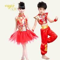 Детские костюмы девушки фартук dress veil народные танцы мальчики Кунг-Фу Китайский стиль одежды