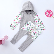 купить VTOM Hot Sale Baby Autumn Sets Baby New Clothes Children Long- Sleeved Hooded Tops+Pants 2 Pcs Clothing Set For Boys Girls дешево