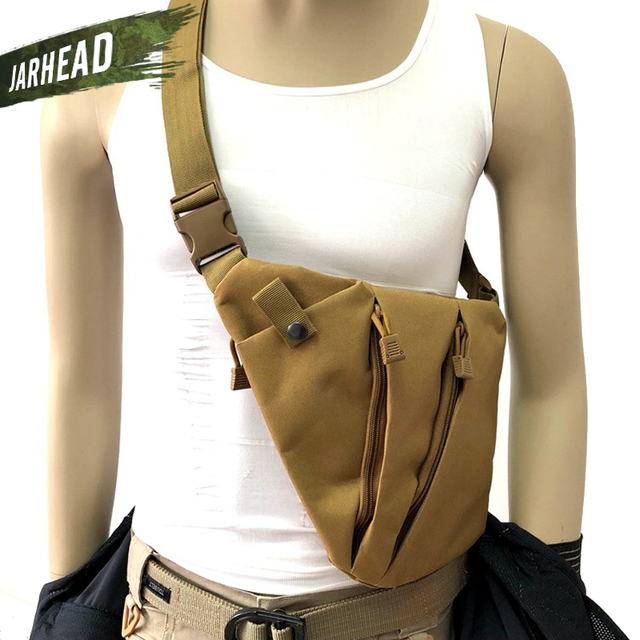 Multifunctional Concealed Tactical Storage Gun Bag Holster Men's Left Right Nylon Shoulder Bag Anti-theft Bag Chest Bag Hunting
