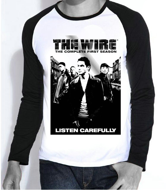 New TV Shows Printing The Wire T shirt Fashion Full Sleeve The Wire ...