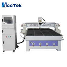 1500*3000*200mm AccTek 1530 showed 1530 woodworking machine cnc router with servo motor