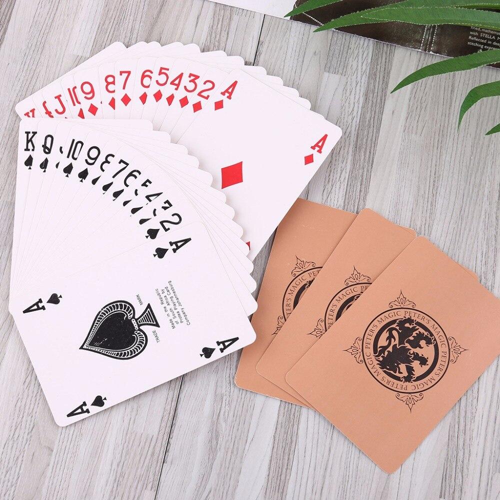 1 Juego de cartas de juego Ultra finas profesional Magic Poker Card accesorios para mago Bar Party 10 unids/lote ramas de flores secas espécimen marcadores Material DIY tarjeta prensado flor accesorios para pinturas para decoración de fiesta