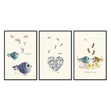 Factory wholesale (No Framed) Modern Bird series Canvas Print On Printing Wall Pictures 12YM-A-618