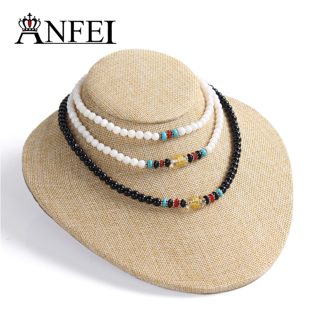 ANFEI Linen display shelf Necklace display shelf jewelry display