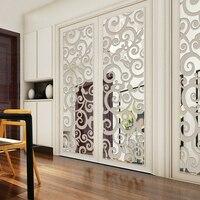 3D облака Узор Акриловые зеркальные наклейки на стену гостиная вход в спальню ТВ фон декоративная стена наклейки домашний декор