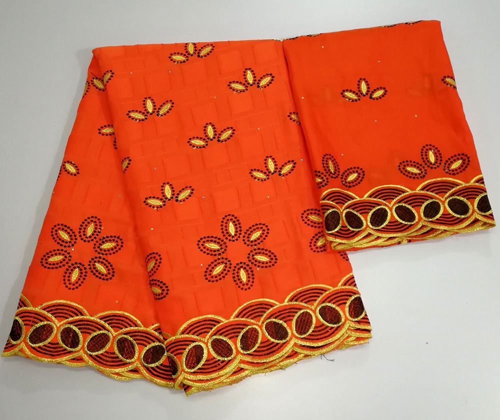 High Quality Swiss Voile Lace 2019 African Lace Fabric African Swiss Cotton Voile Lace Fabric With Stones Orange For ClothesHigh Quality Swiss Voile Lace 2019 African Lace Fabric African Swiss Cotton Voile Lace Fabric With Stones Orange For Clothes