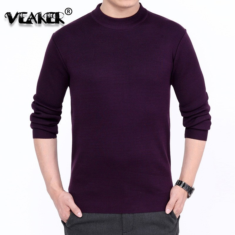 Cashmere Pullover Sweaters Jumper Turtleneck Knitted Long-Sleeve Warm Male Men Winter