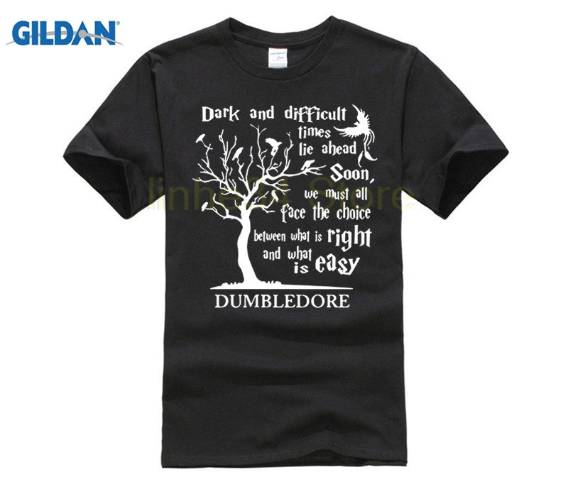 best selling Harry T Shirt Dark And Difficult Time Lie Ahead Soon Dumbledore T Shirt, Potter T Shirt