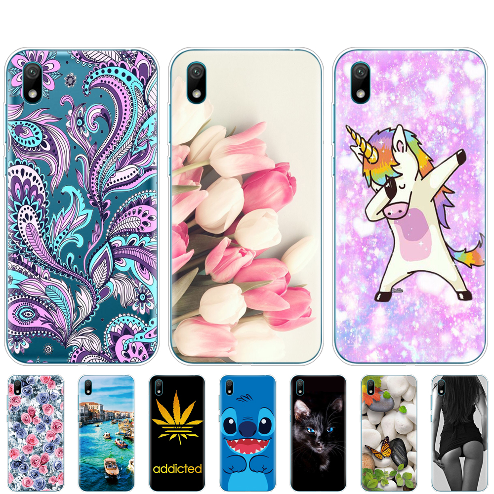 For Huawei Y5 2019 Case Silicone TPU Back Cover Soft Phone Case For Huawei Y5 2019  Coque Bumper 5.71 Inch Protective Painting