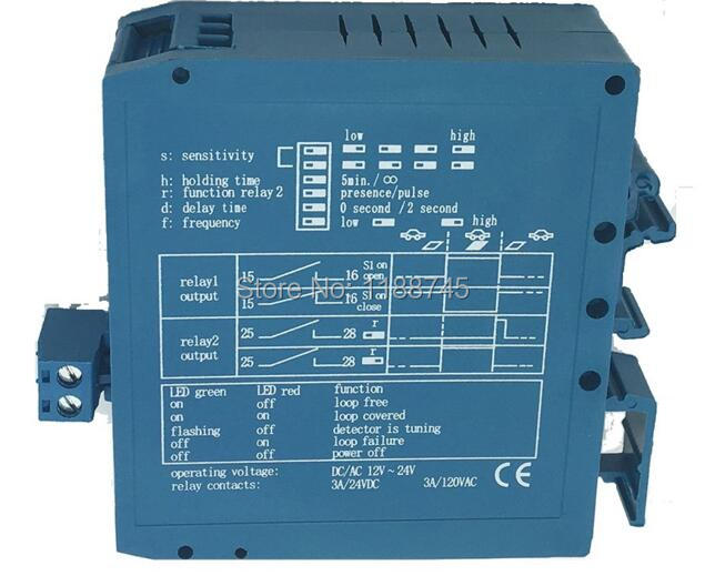 10pcs/Lot DC12~DC24V Car Parking Management Inductive Loop Vehicle Detector