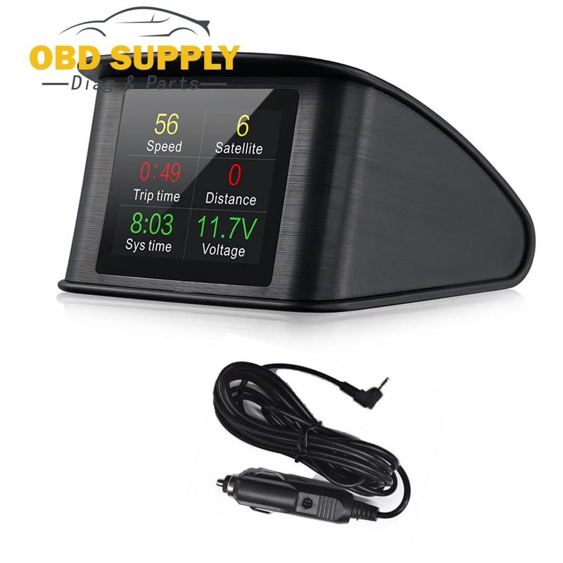 2018 plus récent voiture HUD GPS tête haute affichage projecteur de voiture compteur de vitesse numérique jauge de consommation de carburant outil de Diagnostic
