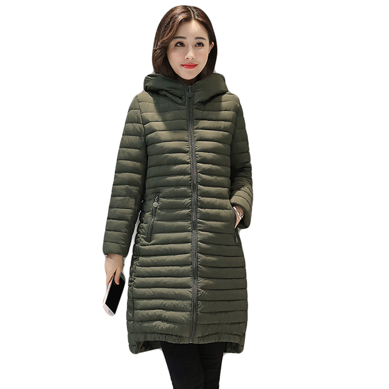 5XL Plus Size Ladies Fashion Winter Coats 2017 Casual Parkas Mujer Outwear Female Hooded Cotton-padded Medium Jackets CM1269 plus size 4xl ladies fashion winter coats 2017 casual parkas mujer outwear female hooded cotton padded long slim jackets cm1468